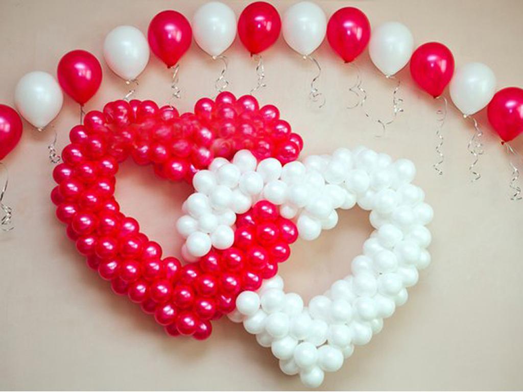 Сердца из шаров на свадьбу