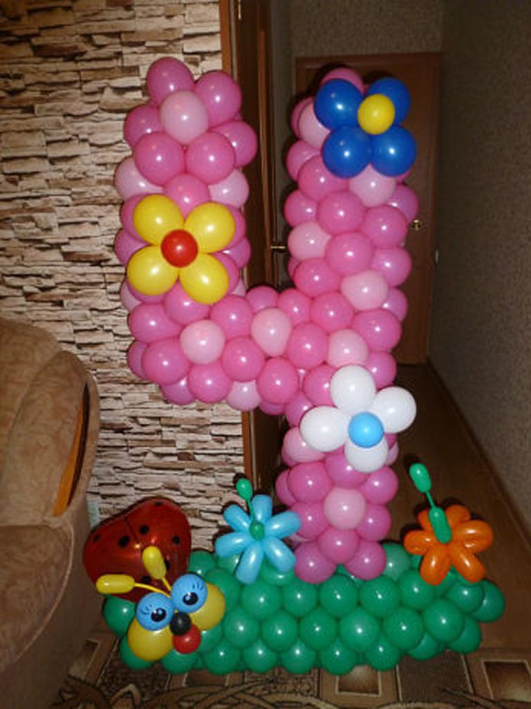 Цифры с шариков своими руками